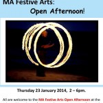 Festive Arts open afternoon